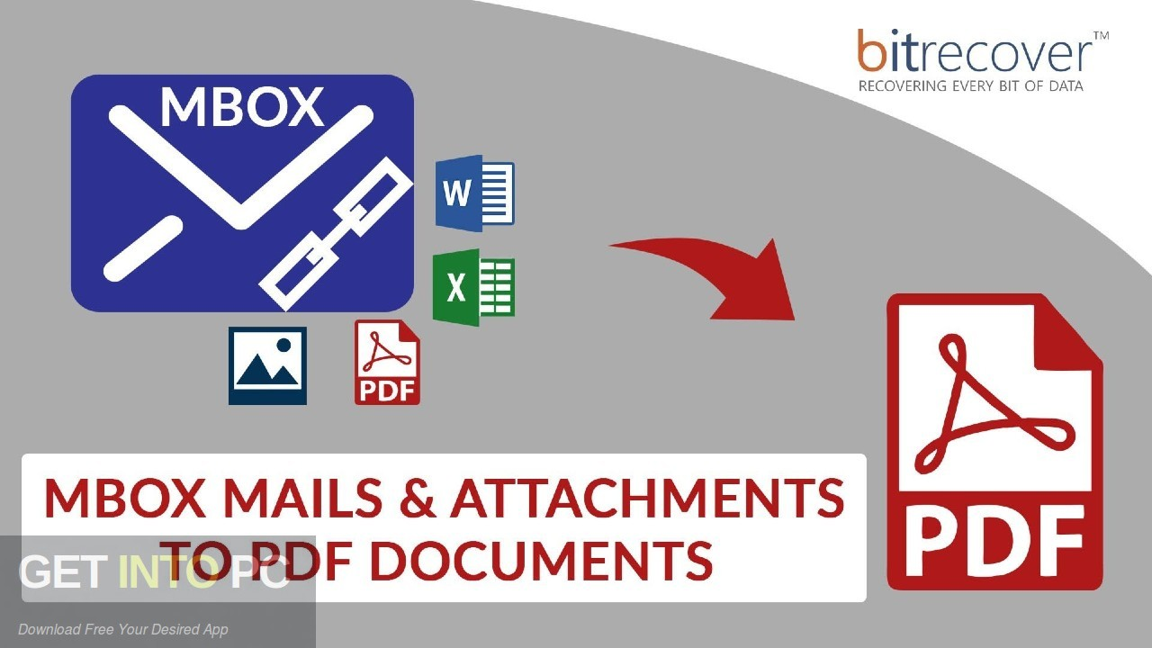 BitRecover MBOX to PDF Wizard Free Download