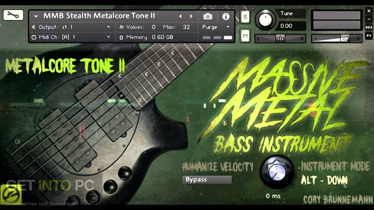 Cory Brunnemann Massive Metal Bass (KONTAKT) Free Download-GetintoPC.com