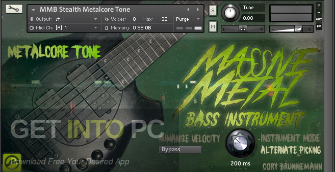 Cory Brunnemann Massive Metal Bass (KONTAKT) Latest Version Download-GetintoPC.com