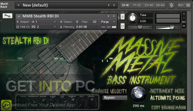Cory Brunnemann Massive Metal Bass (KONTAKT) Direct Link Download-GetintoPC.com