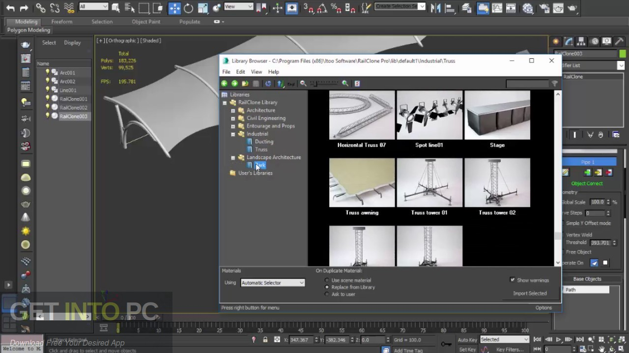 Itoo RailClone Pro for 3ds Max Latest Version Download-GetintoPC.com