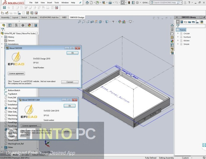 EFICAD SWOOD 2020 for SOLIDWORKS Latest Version Download