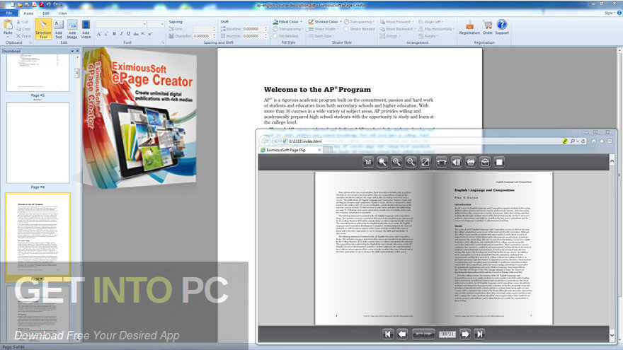 EximiousSoft ePage Creator Free Download PcHippo