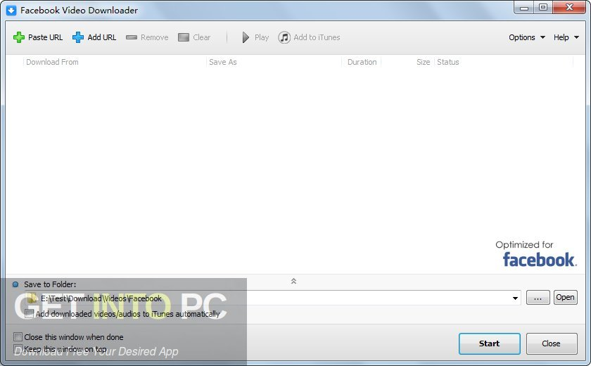 Facebook Video Downloader Free Download-GetintoPC.com