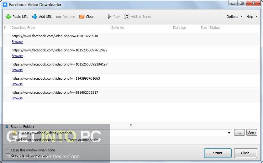 Facebook Video Downloader Direct Link Download-GetintoPC.com