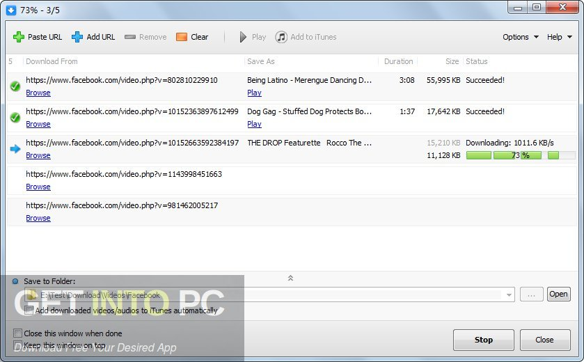 Facebook Video Downloader Latest Version Download-GetintoPC.com