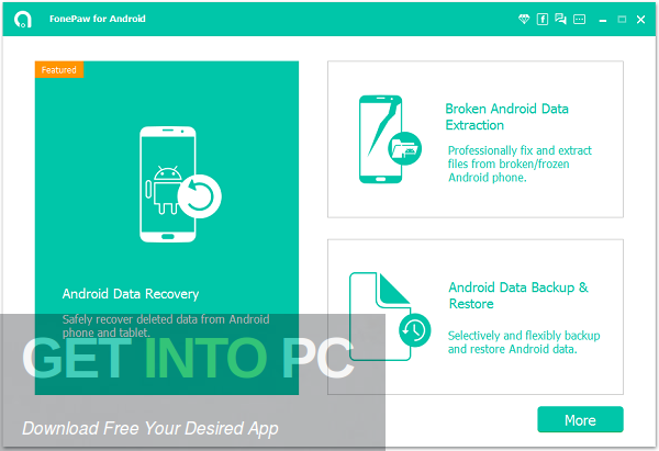 FonePaw Android Data Recovery 2020 Free Download-GetintoPC.com