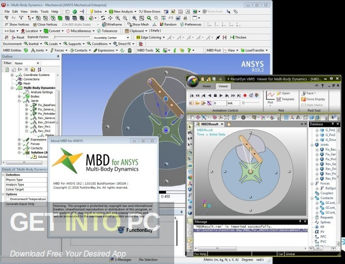 FunctionBay Multi Body Dynamics SP0 for ANSYS 2020 Free Download-GetintoPC.com