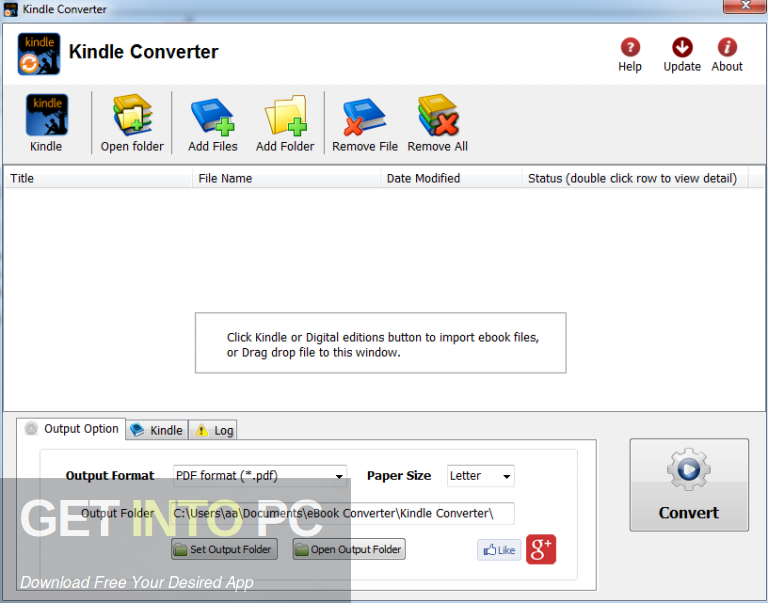 Kindle Converter 2020 Free Download-GetintoPC.com