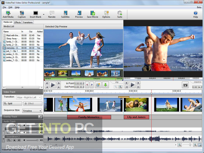 NCH VideoPad Video Editor Professional 2020 Free Download-GetintoPC.com