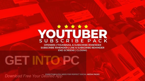 VideoHive  Youtube Subscribe Like Follow Reminder Free Download PcHippo